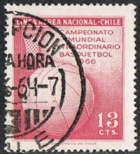 Chile SG569 1966 World Basketball Championships 13c good/fine used